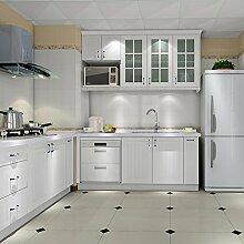 Elegant Selbstklebend Möbelfolie PVC 0.61x5M Weiß Küchenfolie Wasserfest Dekofolie Schrankfolie klebefolie Möbelfolie Folie Tapeten für Küche Schrank Möbel