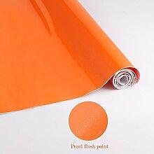 Elegant selbstklebende Folie PVC 0.61x5M Orange Küchenfolie Klebefolie Dekofolie Schrankfolie Wasserfest Möbelfolie Folie Tapeten für Küche Schrank Möbel Küchenschrank
