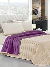 Elegant Steppdecke für Doppelbetten 260 x 270 cm