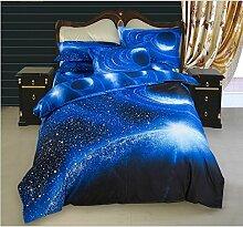 Elegant und komfortabel Heimtextilien Nebel Star Vier Sets Quilt DED Leinen, Starry 005, 1.5 * 2.1 two-piece