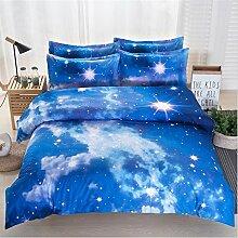 Elegant und komfortabel Heimtextilien Nebel Star Vier Sets Quilt DED Leinen, Starry 010, 1.5 * 2.1 two-piece