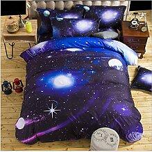 Elegant und komfortabel Heimtextilien Nebel Star Vier Sets Quilt DED Leinen, Starry 007, 1.5 * 2.1 two-piece