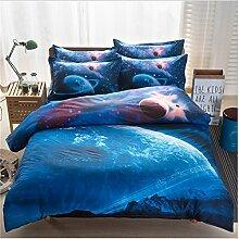 Elegant und komfortabel Heimtextilien Nebel Star Vier Sets Quilt DED Leinen, Star 011, 2 * 2.3 three-piece