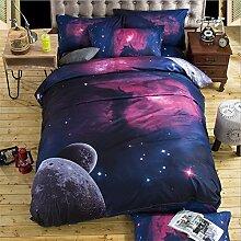 Elegant und komfortabel Heimtextilien Nebel Star Vier Sets Quilt DED Leinen, Starry 002, 1.5 * 2.1 four-piece