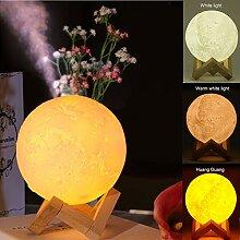Elegante 3D-Mond-Lampe, wiederaufladbarer