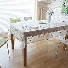 Elegante baumwolle und leinen stickerei tischtuch esszimmer wohnzimmer möbel cover tuch-C 140x200cm(55x79inch)