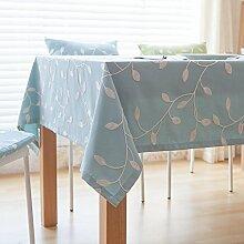 Elegante baumwolle und leinen stickerei tischtuch esszimmer wohnzimmer möbel cover tuch-B 140x250cm(55x98inch)