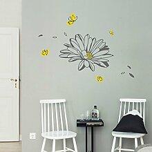 Elegante Blume Restaurant, Eingang Dekoration, Schlafzimmer, Bett, Aufkleber, B Dunkelgrau, in