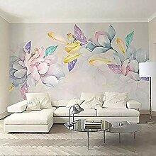 Elegante Blumentapete 3D Farbe Blumen Wandgemälde