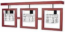 Elegante Deckenleuchte in Rot Klar Transparent