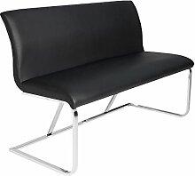 Elegante Design Sitzbank HAMPTON schwarz 130cm mit