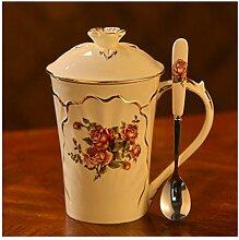 Elegante Kaffeetasse Keramik Becher Luxus Englisch