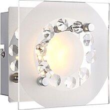 Elegante LED Wandleuchte chrom Glas mit Muster, K5