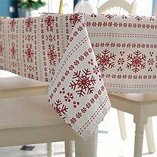 Elegante Schlichte Weihnachtstischdecke, rote