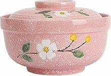 Elegante Schüssel Schneeflocke Porzellan Suppe