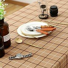 Elegante stickerei gitter baumwoll tischtuch fleck-beständige möbel-abdeckung tuch-K 100x160cm(39x63inch)
