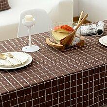 Elegante stickerei gitter baumwoll tischtuch fleck-beständige möbel-abdeckung tuch-F 90x90cm(35x35inch)