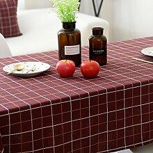Elegante stickerei gitter baumwoll tischtuch fleck-beständige möbel-abdeckung tuch-E Durchmesser200cm(79inch)