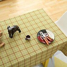 Elegante stickerei gitter baumwoll tischtuch fleck-beständige möbel-abdeckung tuch-A Durchmesser180cm(71inch)