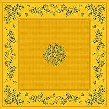 Elegante Tischdecke 150 x 150 cm Baumwolle Oliven