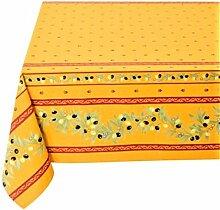Elegante Tischdecke Eckig Baumwolle Oliven Gelb