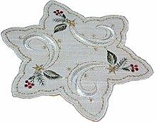 elegante TISCHDECKE Stern 20x20 cm WEIHNACHTEN