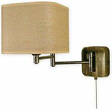 Elegante Wandleuchte Braun Beige E27 bis 60W 230V Stahl Textil Wohnzimmer Esszimmer Lampe Leuchte innen