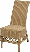 Eleganter Esszimmer-Stuhl aus echtem Rattan /