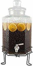 Eleganter Getränkespender aus Glas, mit