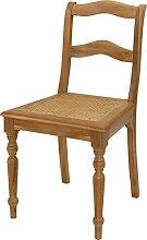 Eleganter Jugendstil-Stuhl aus Teak mit Sitzfläche aus Wiener Geflecht - Versandkostenfrei in DE