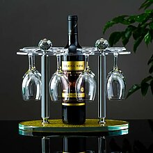 Elegantes Glas-Gestellregal für 8 Weingläser,
