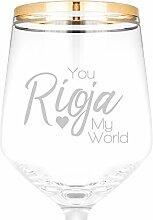 Elegantes Weinglas mit Gravur Funny Sie Rioja My