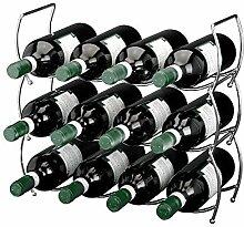 Elegantes Weinregal aus Metall. 3 Elemente im Se