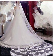 elegantstunning 3m Mantille Brautschleier Bridal
