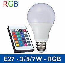 elegantstunning LED RGB Birne E27 Fernbedienung