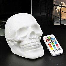 elegantstunning USB Ladekabel Bunte LED Skull Head