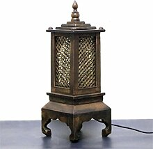 ELEGENCE-Z Tischlampe SüDostasien Stil Bambusbett