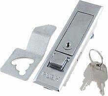 Elektrisch Vernetzung Tür Schrank Schloss 10.41 cm, Metall, mit Schlüsseln, 2 Stück