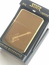Elektrische Gitarre, Stern Gold Feuerzeug (T57)