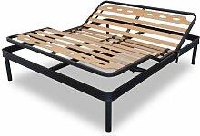 Elektrische Lattenrost aus Eisen Doppelbett für Kräftige Staturen Orthopädische 160 x 200 cm
