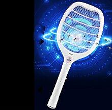 Elektrische Mücken-klatsche USB Wiederaufladbare 800mA Lithium Batterie Fliegenklatsche Hochwertige Mosquito Fliege Zapper Fliegenfänger mit LED Licht keine Giftstoffe Insektenvernichter Anwendung im Haus und draußen