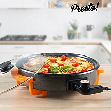Elektrische Pfanne mit Deckel Presto pizzan Pan,