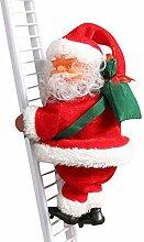 Elektrische Weihnachtsmann Klettern Leiter