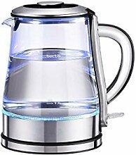 Elektrischer Glaskessel - 1,2 Liter blau LED