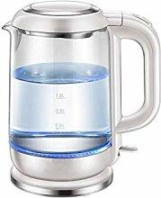 Elektrischer Glaskessel - 1,5 Liter blau LED