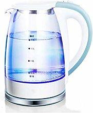 Elektrischer Glaskessel - 1,8 Liter blau LED