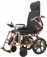 Elektrischer Rollstuhl, älterer behinderter