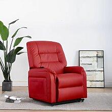 Elektrischer TV-Sessel mit Aufstehhilfe Kunstleder