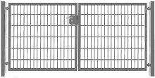 Elektrisches Einfahrtstor Basic (2-flügelig)