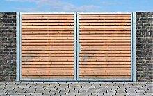 Elektrisches Einfahrtstor Qs Tor Holztor Gartentor